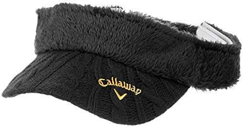 Callaway (キャロウェイ) - [キャロウェイ] [レディース] ボア サンバイザー (サイズ調整可能) / 241-8284808 / 帽子 ゴルフ 010_ブラック 日本 FR (FREE サイズ)